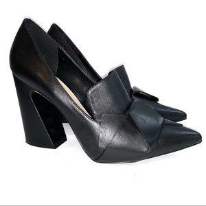 Nine West Chunky Block Heel Black Sz 10